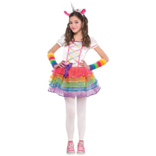 Amscan Rainbow Unicorn Girls Halloween Costume