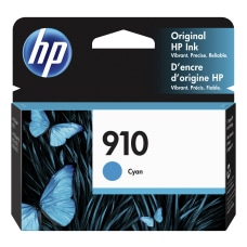 HP 910 Original Ink Cartridge Cyan