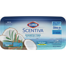 Clorox Scentiva Wet Mopping Cloths Pacific