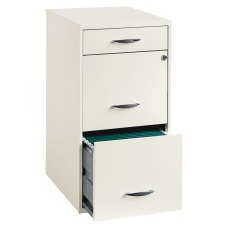 Lorell 18 D Vertical 3 Drawer
