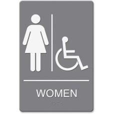 HeadLine WomenWheelchair Image Indoor Sign 1