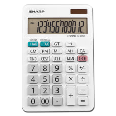 Sharp White Series Desktop Calculator EL