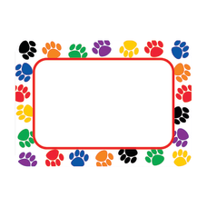 Teacher Created Resources Colorful Paw Prints