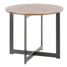 Lumisource Cosmopolitan Industrial End Table Round