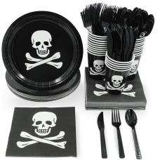 Juvale Pirate Skull And Crossbones Birthday