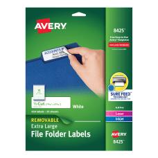 Avery Removable Extra Large File Folder