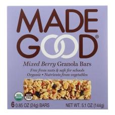 Made Good Organic Granola Bars Mixed