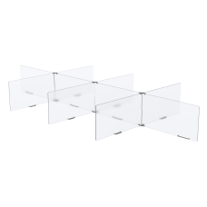 MARVEL 8 Way Table Divider ClearSilver