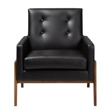 Baxton Studio Franz Lounge Chair BlackWalnut