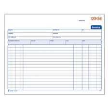 Adams Carbonless Invoice Books 2 Part