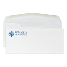 Custom Stationery 10 Envelopes 1 Color