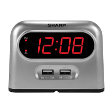 Sharp Digital Alarm Clock With USB