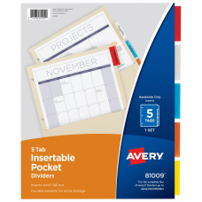 Avery Pockets n Tabs Insertable Dividers