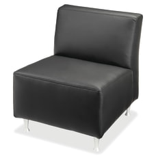 Lorell Fuze Modular Bonded Leather Armless