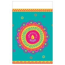 Amscan Diwali Plastic Table Cover 54