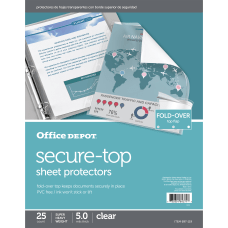 Office Depot Brand Secure Top Sheet