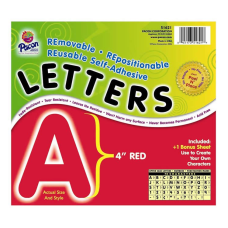 Pacon Self Adhesive Letters 4 Red