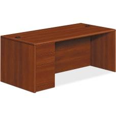 HON 10700 Series Cognac Laminate Desking