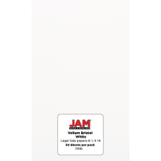 JAM Paper Vellum Bristol Legal Card