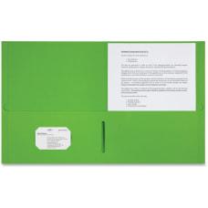 Sparco Letter Pocket Folder 8 12