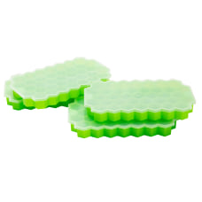 Mind Reader Silicone Ice Trays Green
