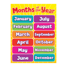 Scholastic Months Of The Year Chart