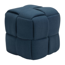 Zuo Modern Checks Stool Navy