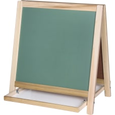 Flipside ChalkboardMagnetic Board Table Easel WhiteGreen