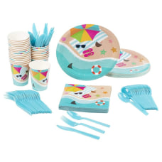 Disposable Dinnerware Set Serves 24 Summer