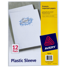 Avery Heavy Duty Plastic Sleeves Letter