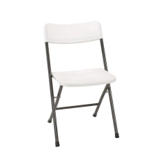 Cosco Resin Folding Chairs White SpecklePewter