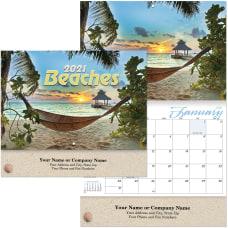 Beaches Stapled Wall Calendar