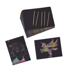 Juvale Rainbow Scratch Paper With 5