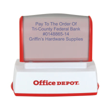 Custom Office Depot Brand Pre Inked