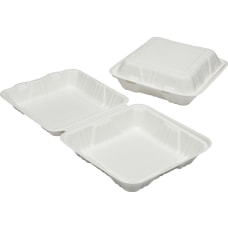 SKILCRAFT Hinged Lid Square Food Tray