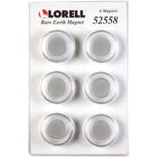 Lorell Round Cap Rare Earth Magnets