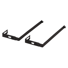 OIC Adjustable Partition Hangers Black Pack