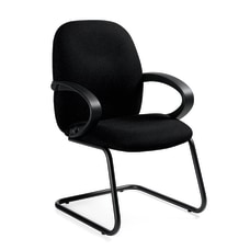 Global Enterprise Fabric Guest Chair Black