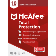 McAfee Total Protection 10 Devices Antivirus