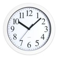 Realspace Round Quartz Analog Wall Clock