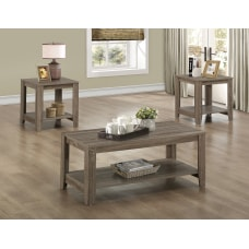 Monarch Specialties 3 Piece Coffee Table