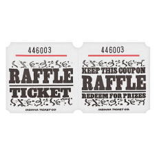 Amscan Raffle Ticket Roll White Roll