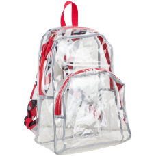 Eastsport Clear PVC Backpack RedBlack Geometric