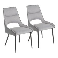 LumiSource Mickey Chairs BlackGray Set Of