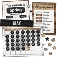 Schoolgirl Style Calendar Bulletin Board Set