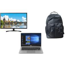 LG gram Laptop Monitor And Backpack