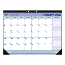 Blueline Monthly Desk Pad Calendar 21