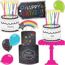 Schoolgirl Style Birthday Bulletin Board Set