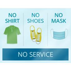 ComplyRight No ShirtNo ShoesNo MaskNo Service