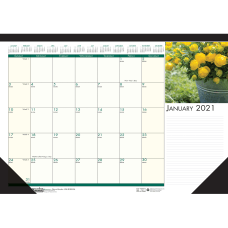 Doolittle EarthScapes Flowers Monthly Desk Pad